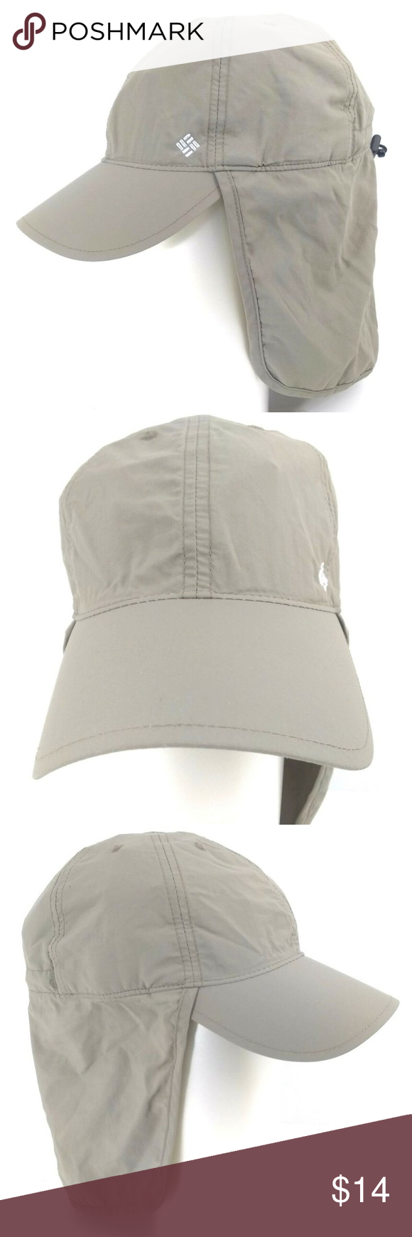 Columbia PFG Omni Shade Fishing Hat Cap Unisex Columbia Fishing Hat Cap  Neck Flap Beach Hiking 1a30788994a
