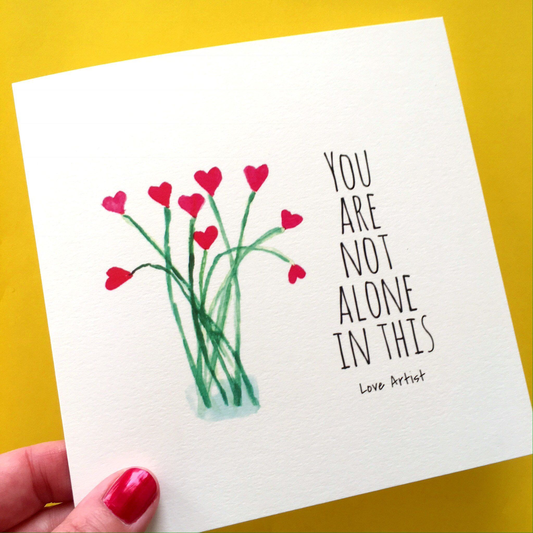 Thinking Of You Big Card Encouragement Card Flower Card