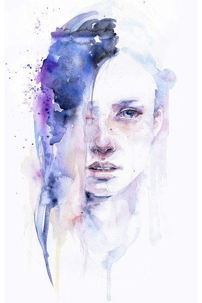 Beautiful Watercolor Painting Portrait Art Art Watercolor Portraits