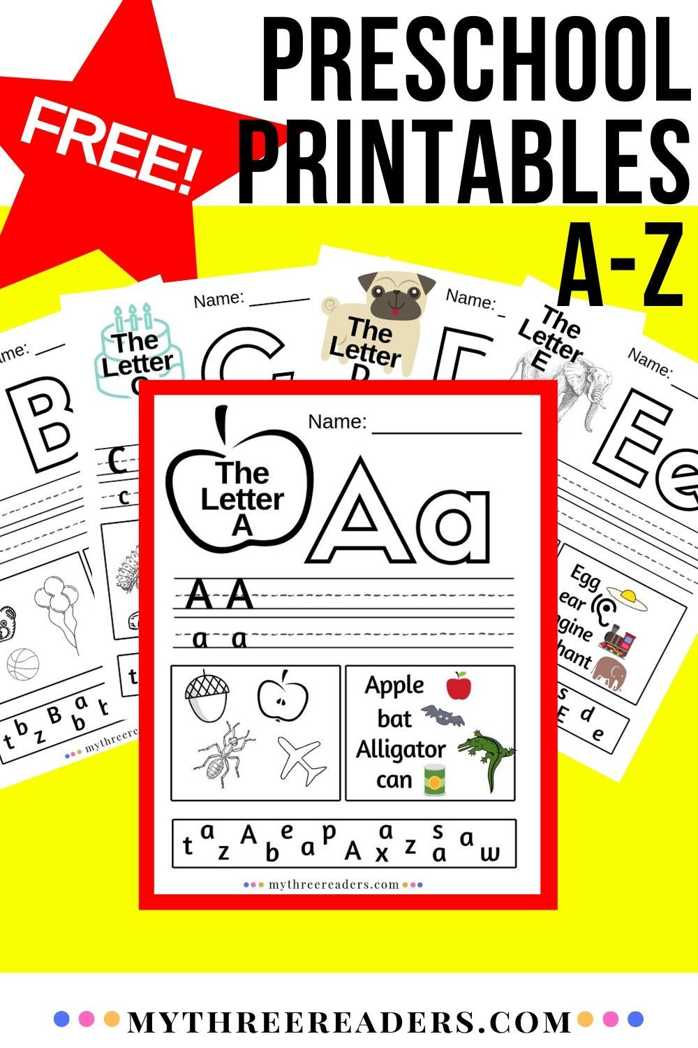 Alphabet Worksheets AZ Free printable alphabet