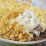 just helen | Funeral potatoes hashbrown casserole i used much less sour cream and added some whipping cream. I also used 32 oz.rehydrated potatoes.