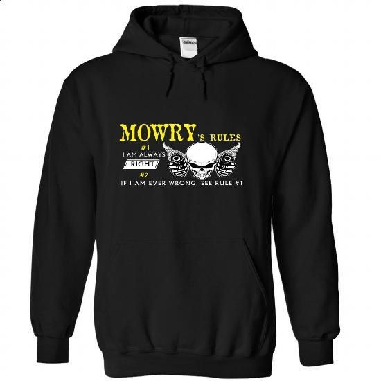 MOWRY Rules - #shirt pattern #sweater and leggings. CHECK PRICE => https://www.sunfrog.com/Automotive/MOWRY-Rules-aylqagoosx-Black-47220855-Hoodie.html?68278