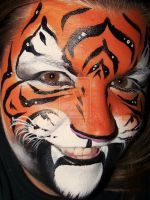 bright tiger face paint   Tiger tiger burning bright 5 years ago in Face & Body Paint