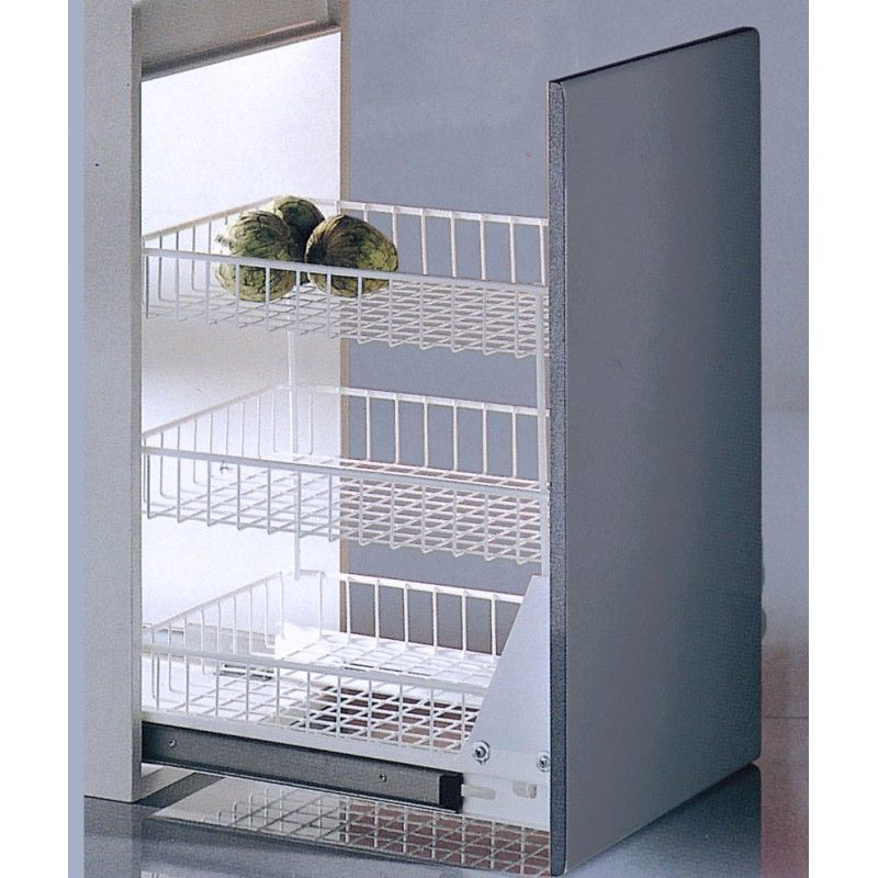 Modulo extraible 3 pisos blanco casaenorden te for Armarios para cocina