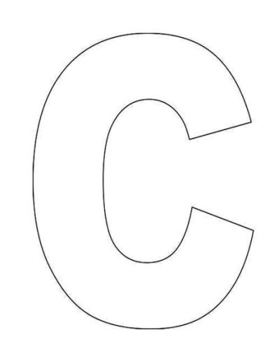 Resource image regarding letter c printable template