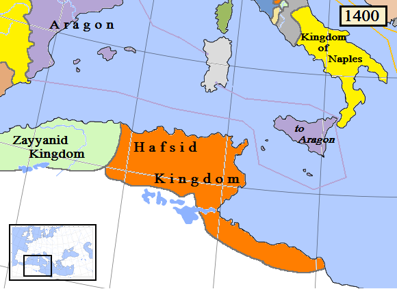Hafsid Ifriqiya including Constantine and Tarabulus and