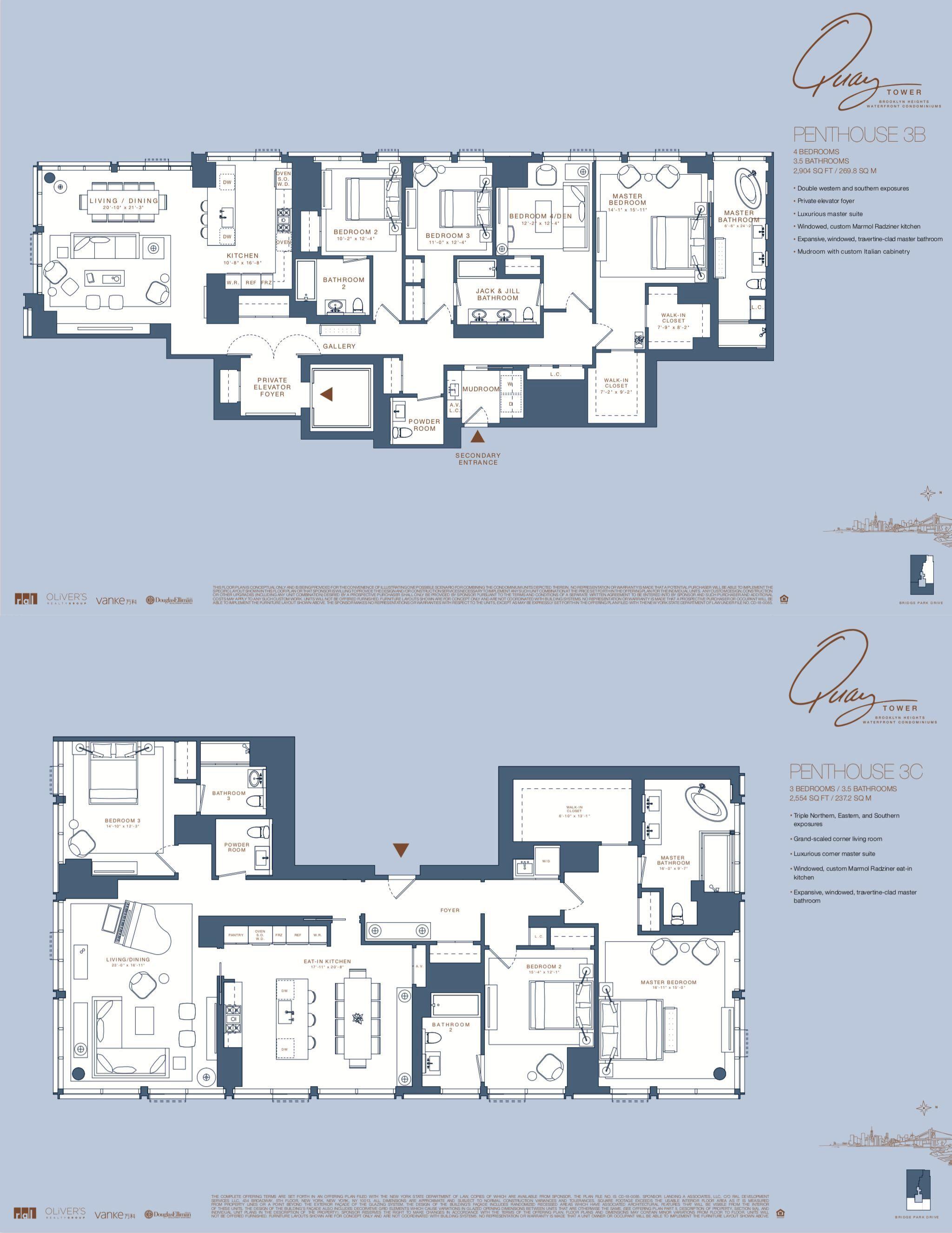 Quay Tower At Brooklyn Bridge Park Floor Plans City Living Apartment Floor Plan Design