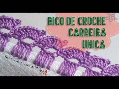 Bico Em Croche Carreira Unica Simples Bico De Croche Bicos De
