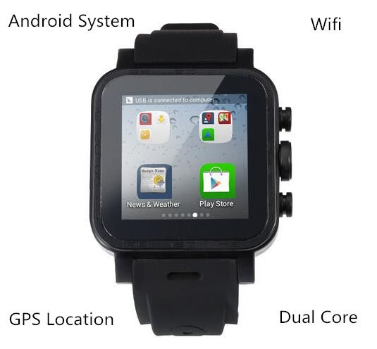 Smart Watch Ips Dual Core Sync Bluetooth Wifi Gps Pedometer Heart Monitor 512mb Ram 4gb Smartwatch For Android Ios Tag Smart Watch Gps Wearable Technology