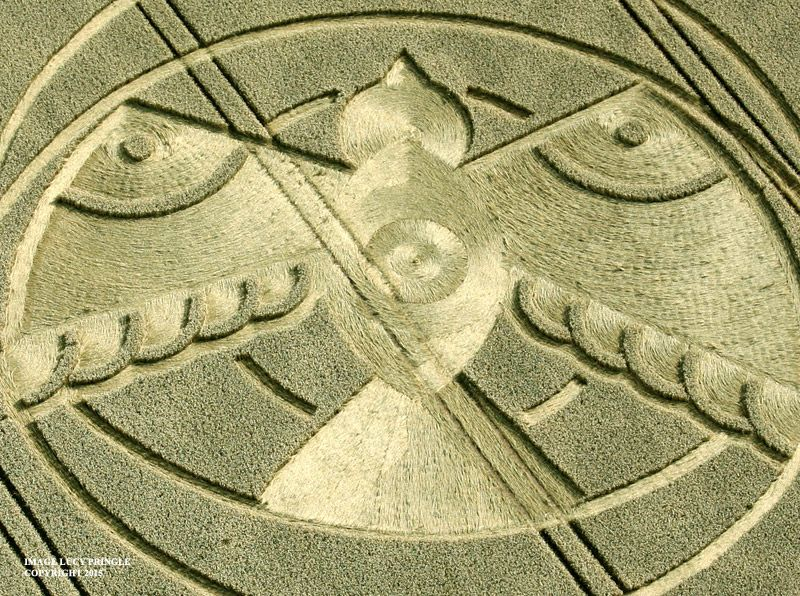 Crop Circle at Hampton Lucy, nr Stratford-upon-Avon, Warwickshire, United Kingdom. Reported 8th August 2015