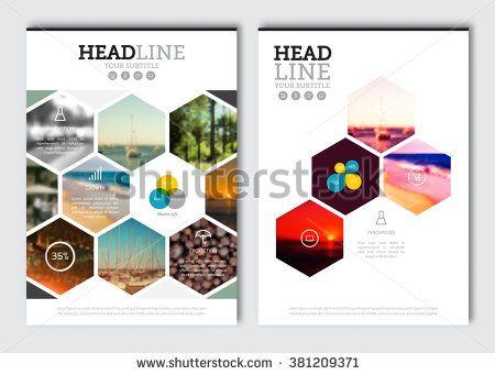 Business Brochure Design Template Vector Flyer Layout Blur