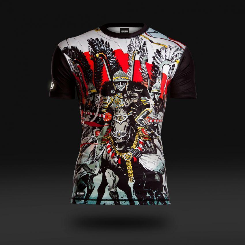 60b379a8e Koszulka termoaktywna Husaria - długi rękaw | Rzeczy do noszenia | Koszulki,  Odzież męska, Odzież