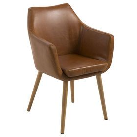 Picture of NORA CARVER CHAIR BRANDY KD 130 Swivel