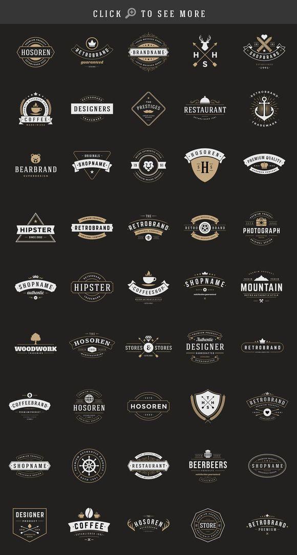 150 Retro Vintage Logotypes Vintage Logo Design Retro Logo Design Retro Logos