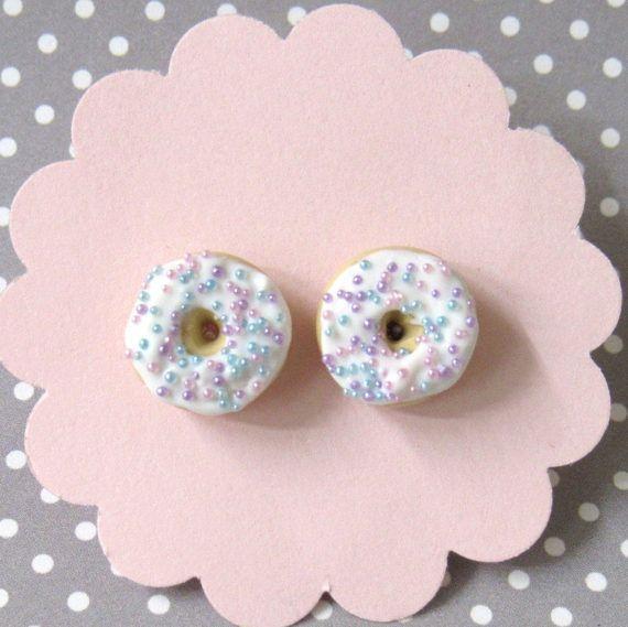 Pastel Donut Earrings Hypoallergenic Posts Donut Stud