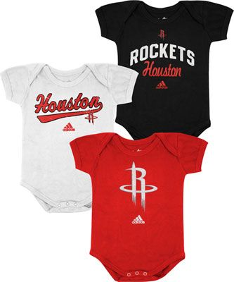 new styles e9b2e 74d2f Houston Rockets Newborn Baby adidas 3-Pack Creeper Set ...
