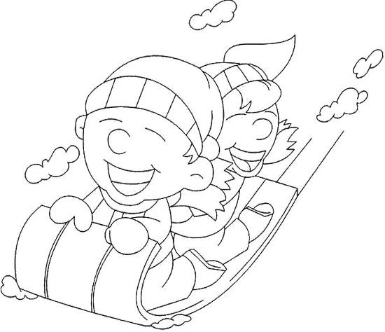 Happy In Winter Coloring Page Coloring Pages Winter Color