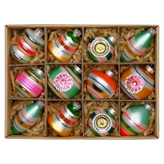 Purchase The Assorted Vintage Glass Wall Ornaments By Ashland At Michaels Com Deck The Halls Or Windows Of You Wall Ornaments Retro Christmas Glass Ornaments