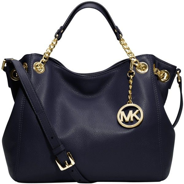 Michael Kors Jet Set Chain Medium Tote Handbag Navy 245 Found On