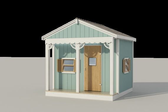 Kids Playhouse Plans DIY Micro Cottage Guest House Backyard Storage on garage storage, library storage, greenhouse storage, private storage, freezer storage,