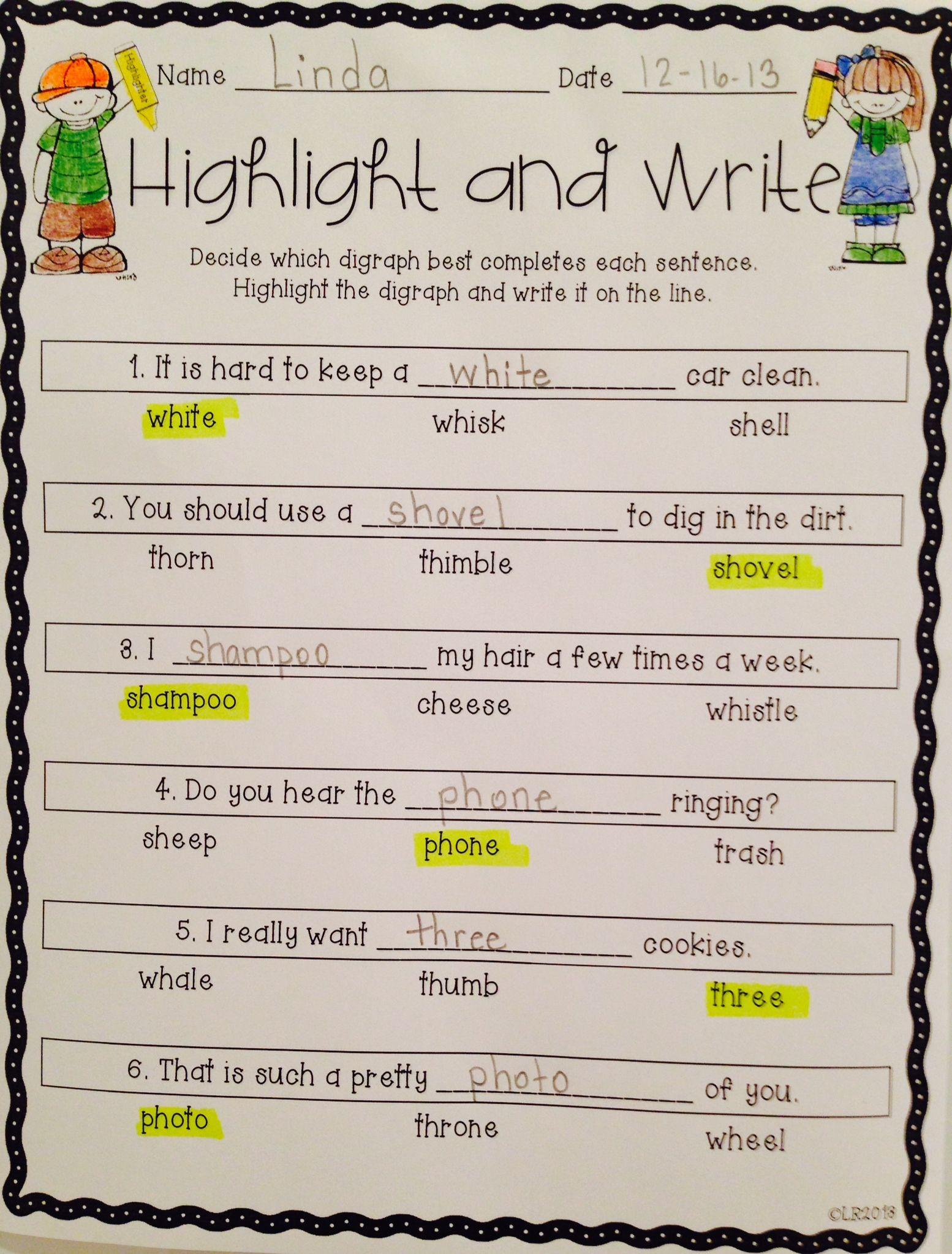 Worksheet Elementary Common Sense