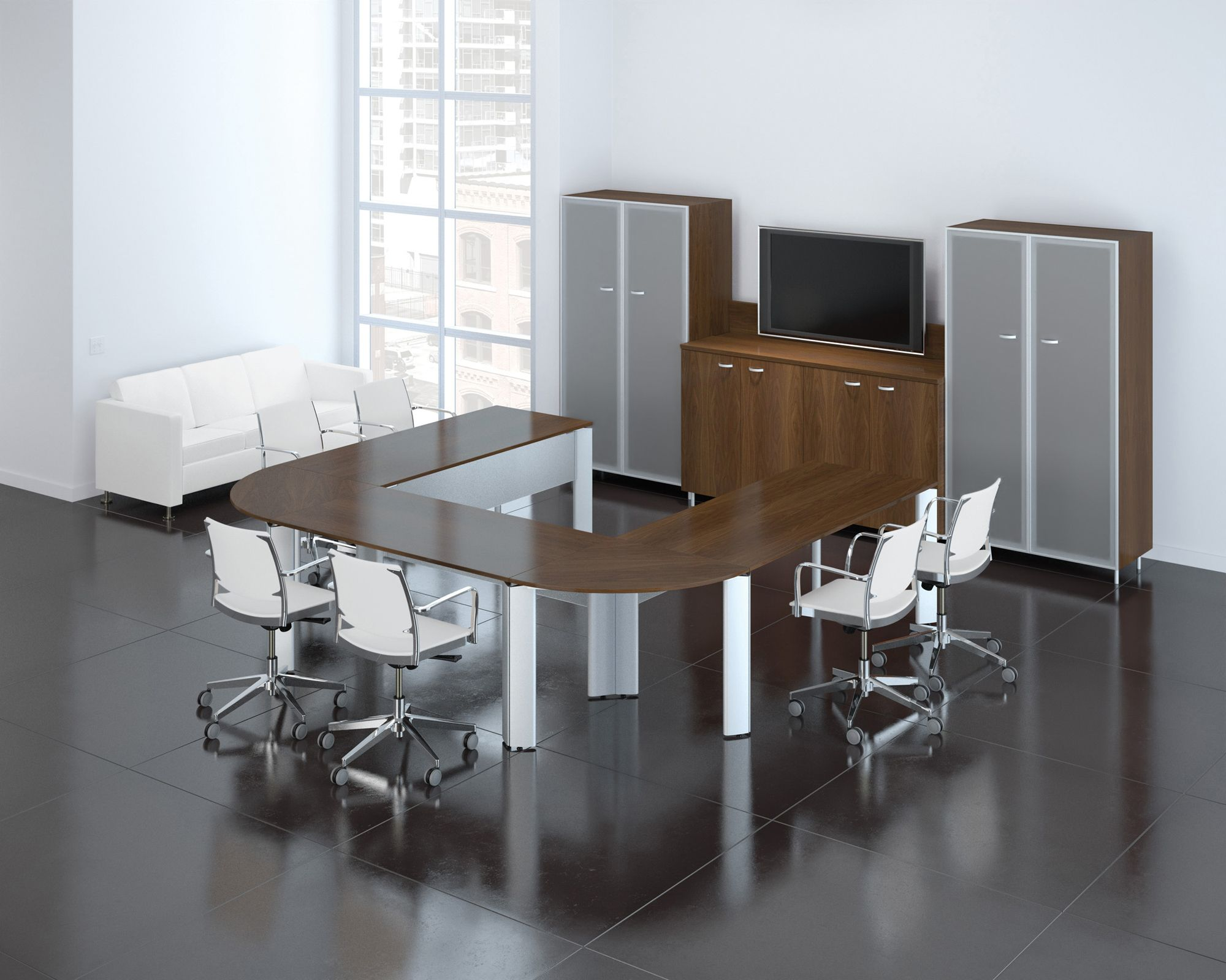 V Modular UShaped Conference Table Conference Tables Pinterest - U shaped conference table designs