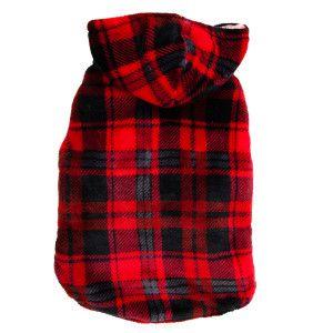 Top Paw Plaid Fuzzy Hoodie Sweaters Coats Petsmart Plaid Hoodie Fuzzy Hoodie Sweater Coats