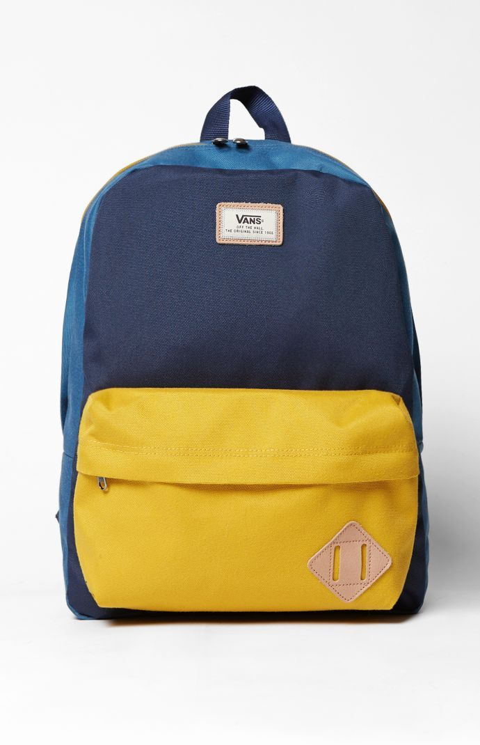 Old Skool II Colorblock Blue & Yellow Backpack | Backpacks