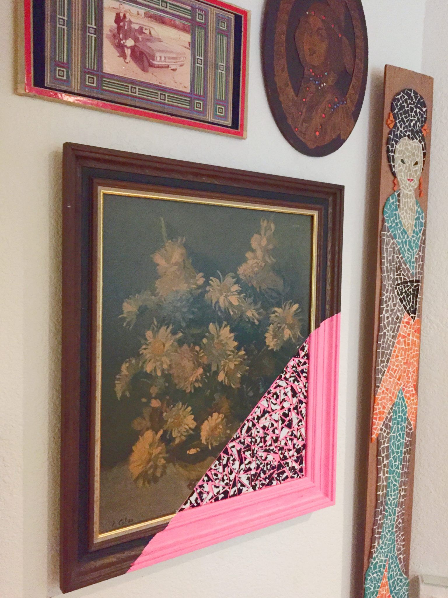 Thrift Store Art Made Modern for Your Gallery Wall #thriftstoreupcycle