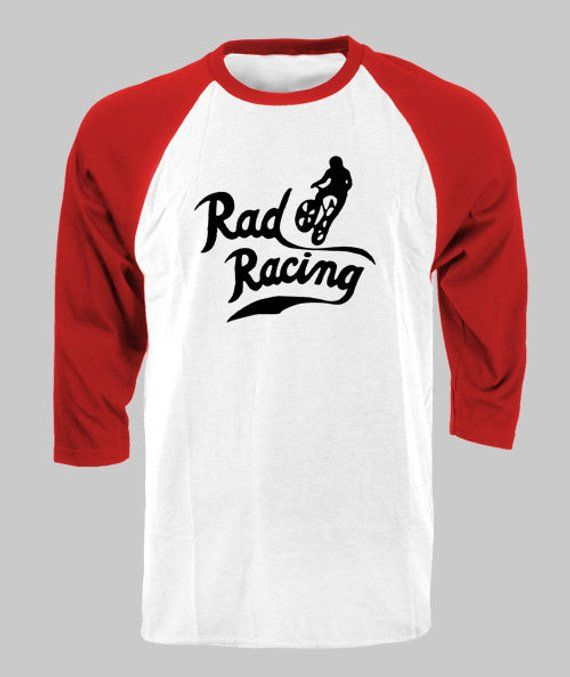 fdaeaa5aa RAD Racing - Cru Jones BMX Classic Movie retro 80's raglan baseball style t-shirt  tee vintage