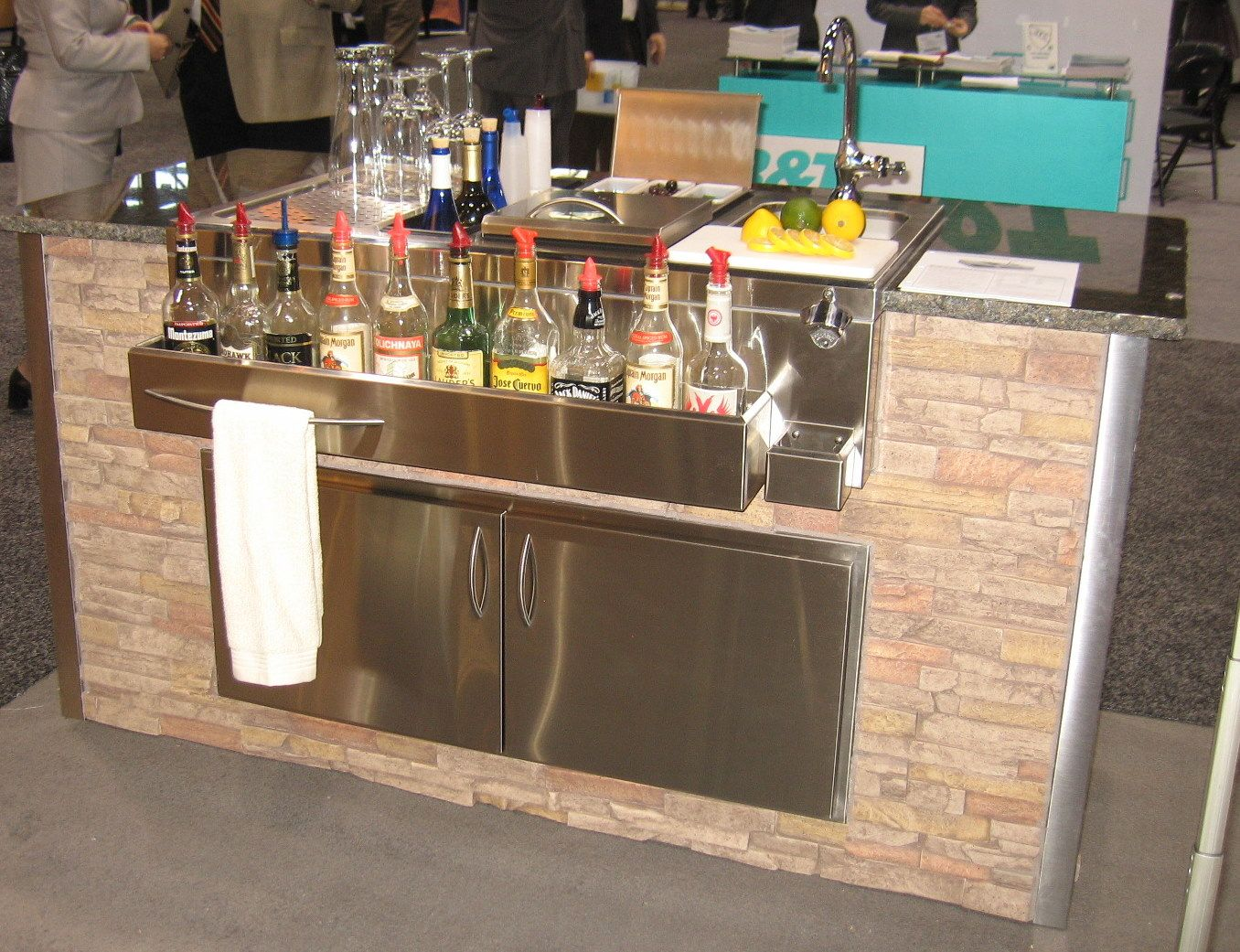 Outdoor Kitchens And Bars | Outdoor bar, stainless steel bar, fully ...