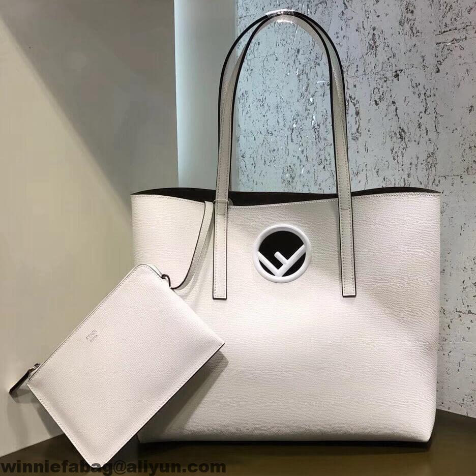 f3a57b76c6 Fendi F Logo Leather Shopping Shopper Bag 2018 | Fendi | Fendi ...