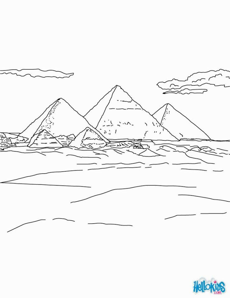 Pyramid Coloring Page Coloring Pages Coloring For Kids Coloring Pages For Kids