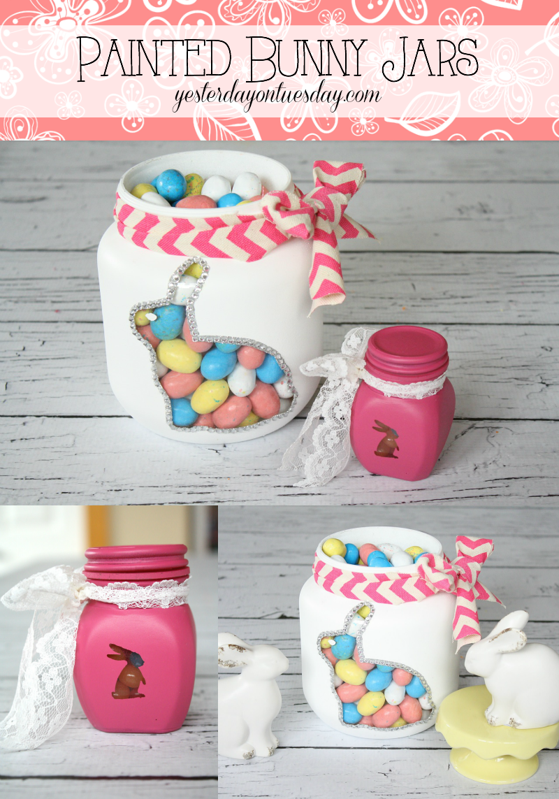 Painted Bunny Jars Holiday Decorations Craft Easter Easter