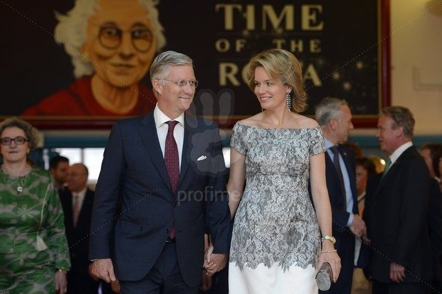 Crown Prince Philippe and Mathilde of Belgium 4/16/2013