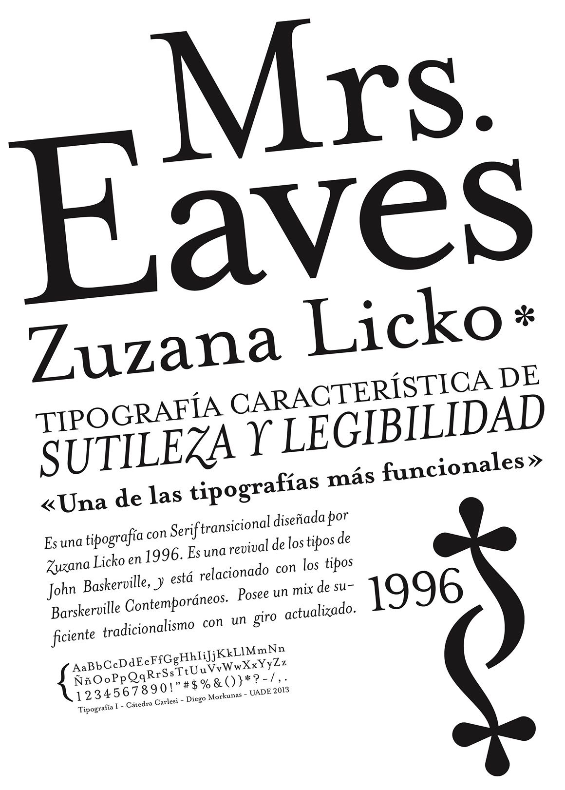 Zuzana Licko Poster by Diego Morkunas   Fonts   Typography