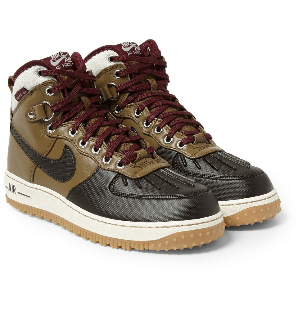 Nike Air Force 1 Duckboot Leather High Top Sneakers MR