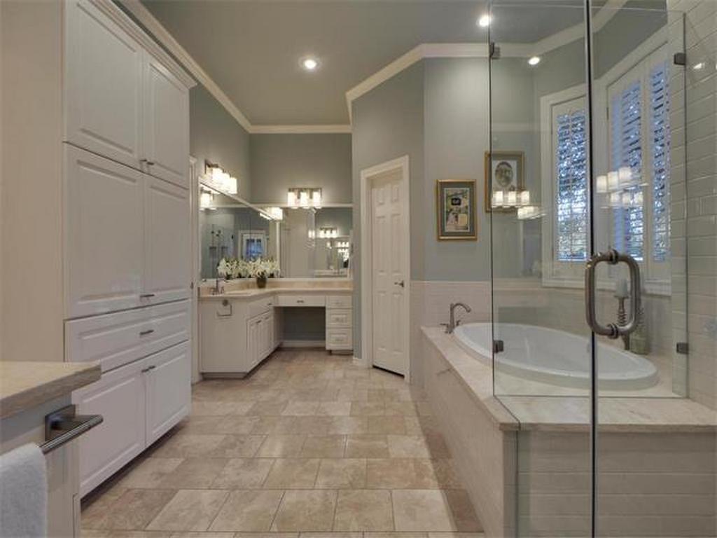 Tile floors walk in shower lots of shelving and double vanity tile floors walk in shower lots of shelving and double vanity 4410 silent dailygadgetfo Gallery