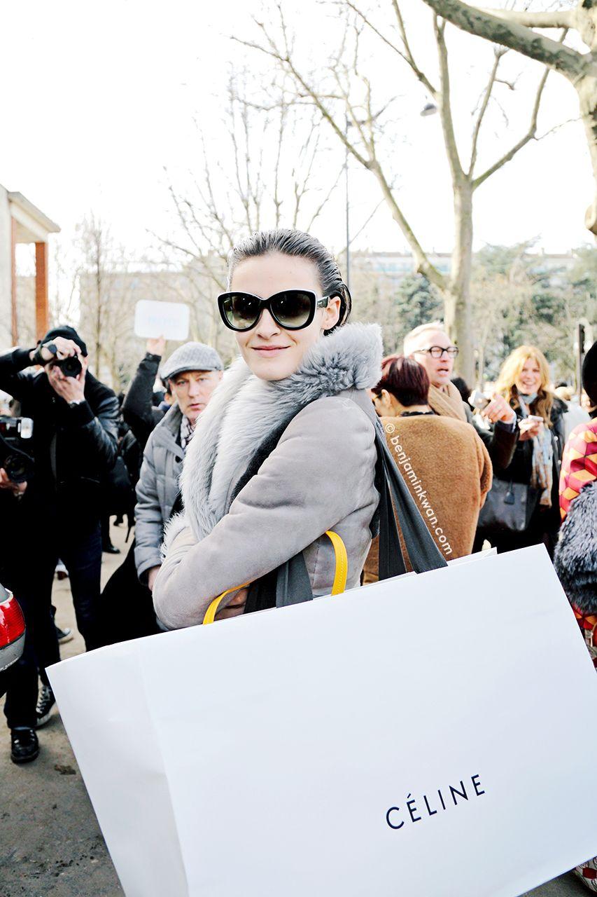 Kremi Otashliyska at Celine FW 2014 Paris Snapped by Benjamin Kwan Paris Fashion Week