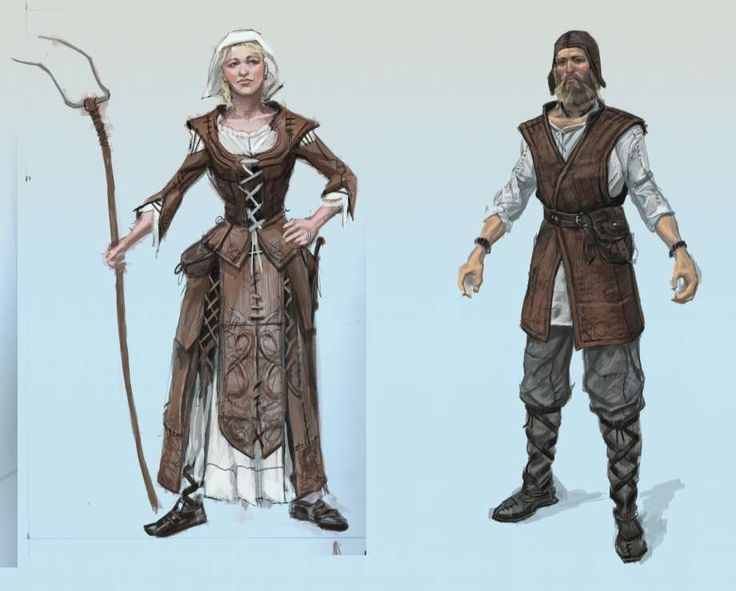 Fantasy Medieval Peasant Clothing Google Search In 2019