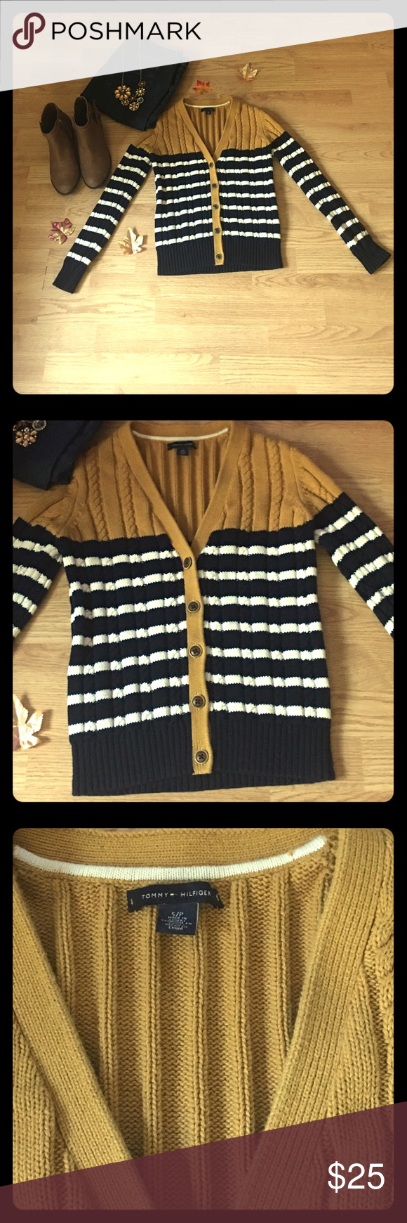 2 HR FLASH SALE🍁Tommy Hilfiger Cardigan 🍁In like new condition.                                                                 🍁Best offers considered!                                                                  🍁Bundle for the best offer! Tommy Hilfiger Sweaters Cardigans