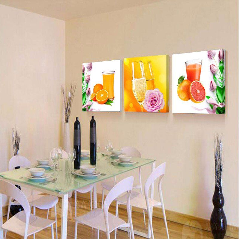 Fruit Juice Canvas Prints Dining Room Wall Pictures Flower Painting Canvas Wall Painting Flowers Wall Decor Pictures