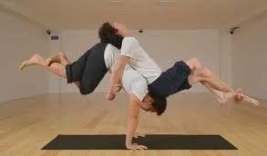 resultado de imagem para yoga 2 people  difficult yoga