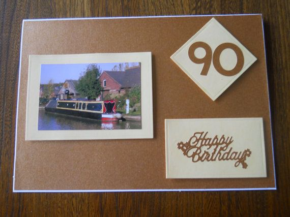 Lovely 90th Birthday Card For A Man By Beaulyben On Etsy 600