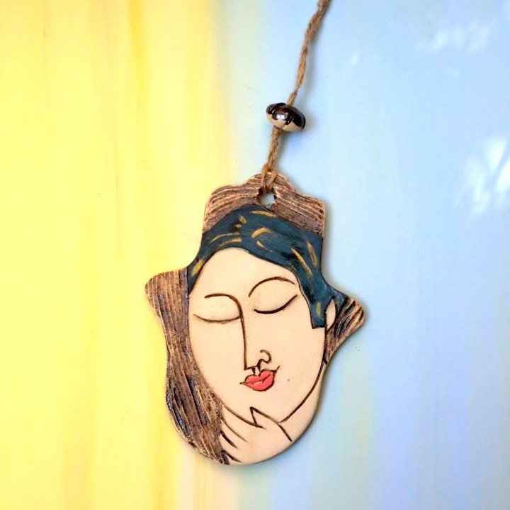 Large Hamsa wall art, Hand of Fatima, Hand ornament, Ceramic Hamsa ...