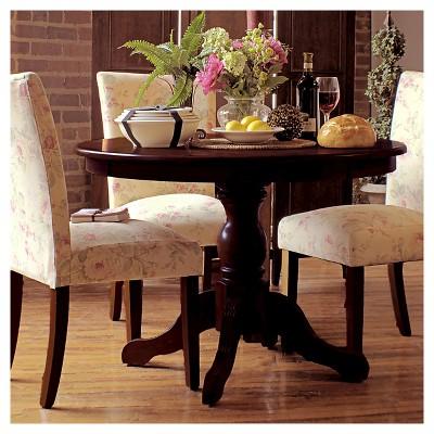 Garner Pedestal Dining Table Carolina Cottage Brown