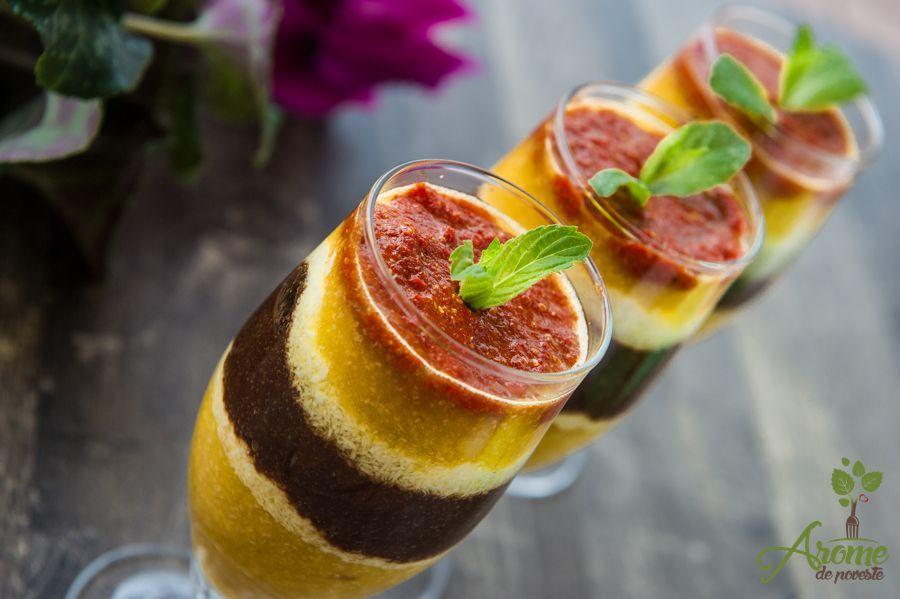 Budinca din amarant cu mango, ananas, banane si ciocolata