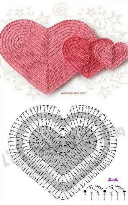 Corazon | Crochet | Pinterest | Crochet patrones, Imanes y Patrón gratis