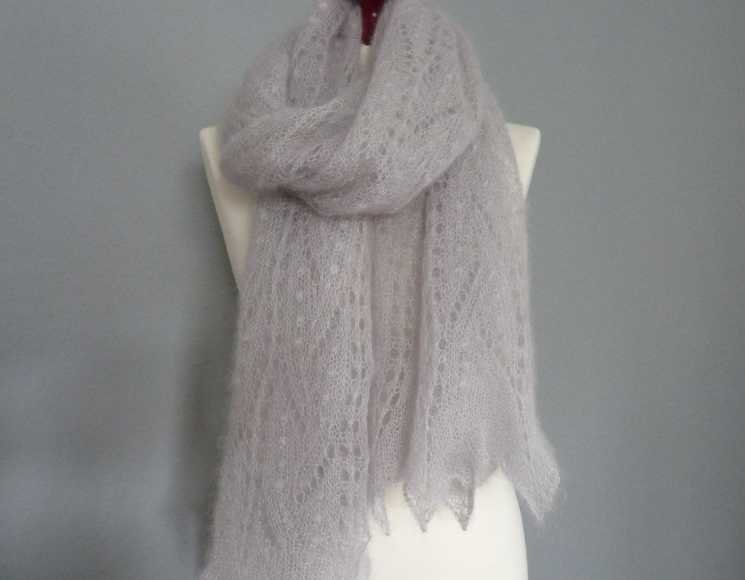 Lace hand knitted scarf light gray silkmohair lace scarf lace hand knitted scarf light gray silkmohair lace scarf estonian lace pattern bankloansurffo Image collections