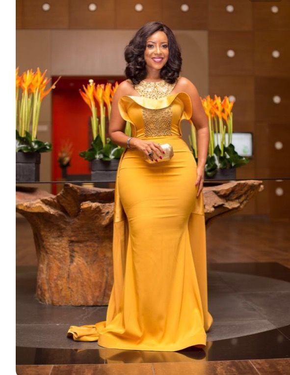 Beautiful Yellow Gown...Ankara | Fashion | Pinterest | Kleider rock ...